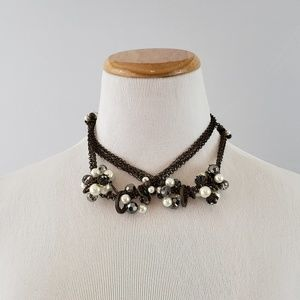 Chunky Bead & Pearl Necklace